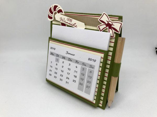 Tischkalender moosgrün