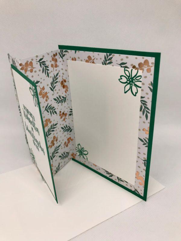 Grußkarte Weihnachten grün innen