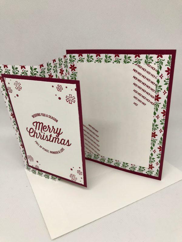 Grußkarte Weihnachten rot innen