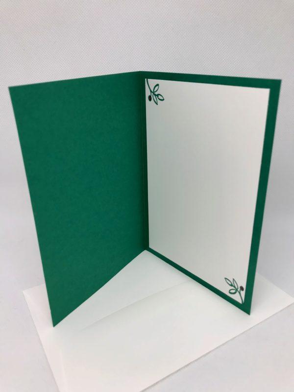 Karte Weihnachtsgrüße rot/grün innen